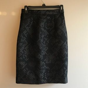 NWOT Topshop Boutique Quilted Skirt Black/Bronze